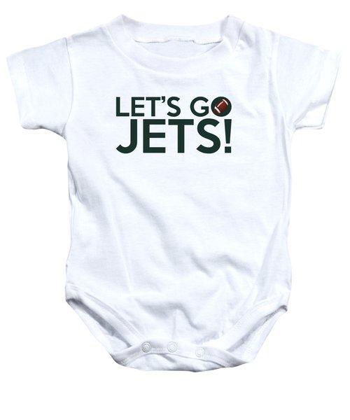 Let's Go Jets Baby Onesie