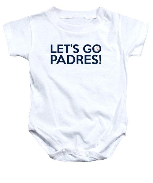 Let's Go Padres Baby Onesie