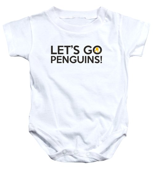 Let's Go Penguins Baby Onesie