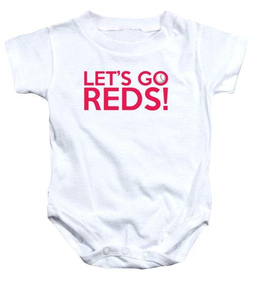 Let's Go Reds Baby Onesie
