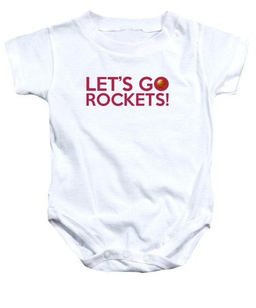 Let's Go Rockets Baby Onesie