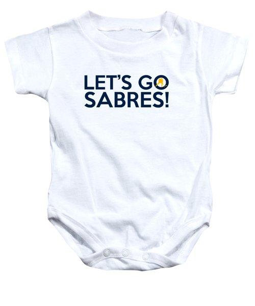 Let's Go Sabres Baby Onesie by Florian Rodarte