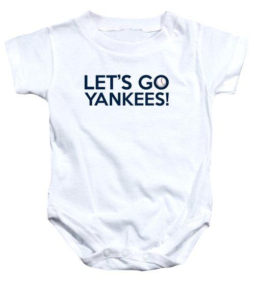 Let's Go Yankees Baby Onesie