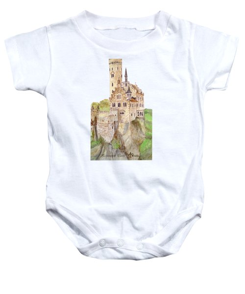 Lichtenstein Castle Baby Onesie by Angeles M Pomata
