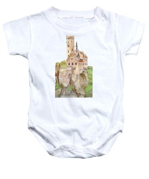 Lichtenstein Castle Baby Onesie by Angeles M Pomata