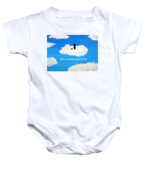 Life's A Journey Greeting Card Baby Onesie