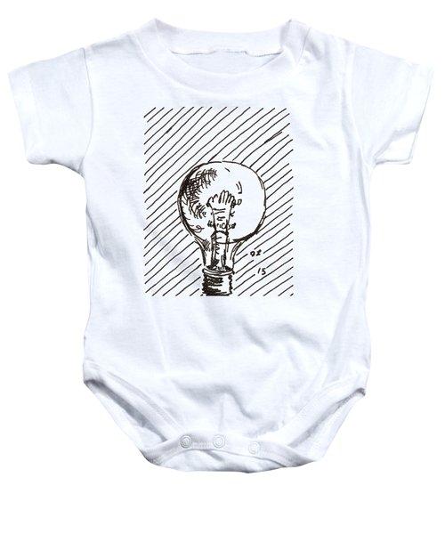 Light Bulb 1 2015 - Aceo Baby Onesie