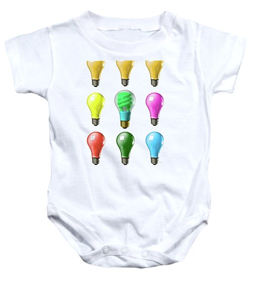 Light Bulbs Of A Different Color Baby Onesie