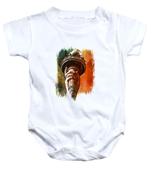 Light The Path Art 1 Baby Onesie by Di Designs