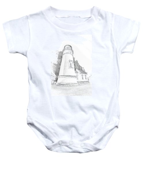 Lighthouse In Oregon Baby Onesie