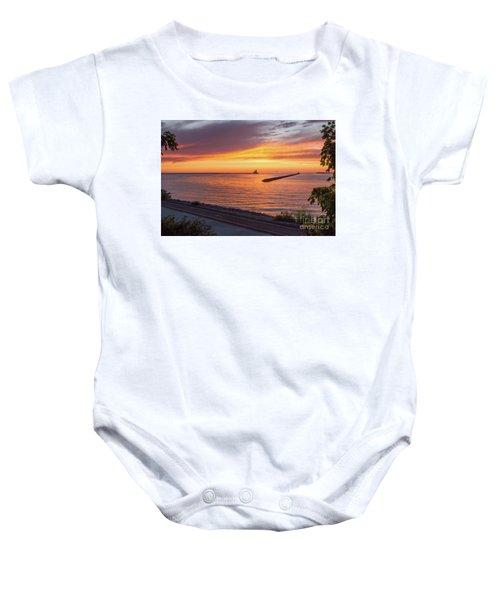 Lighthouse Sunset Baby Onesie