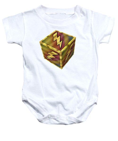 Lightning Bolt Cube - Transparent Baby Onesie