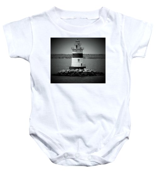 Lights Out-bw Baby Onesie