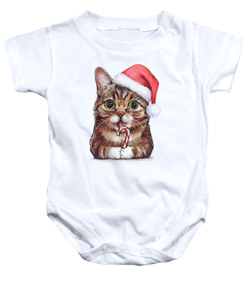 Cat Santa Christmas Animal Baby Onesie