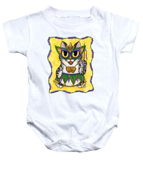 Lil Mardi Gras Cat Baby Onesie