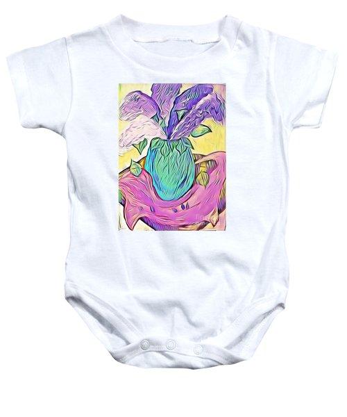 Lilacs Baby Onesie