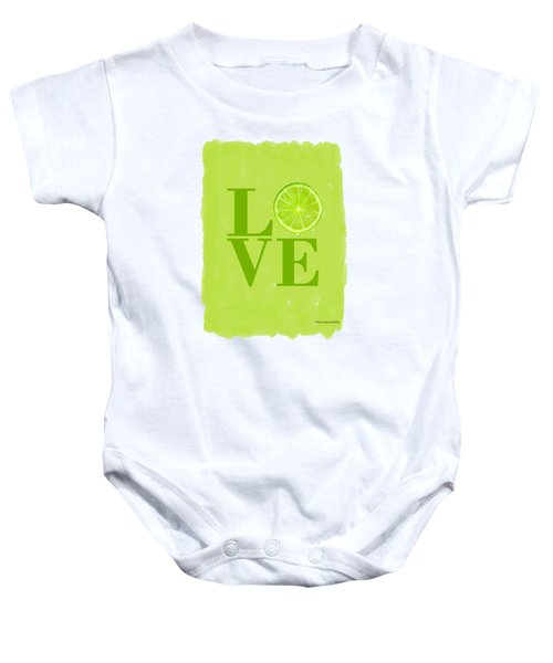 Lime Baby Onesie by Mark Rogan