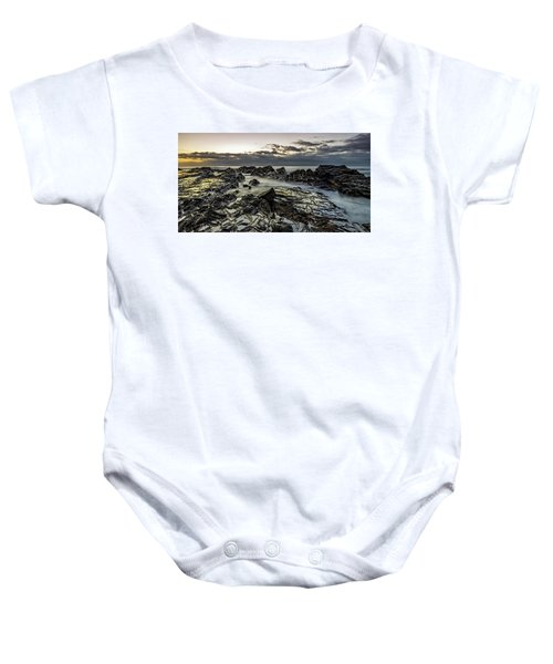 Lines Of Time Baby Onesie