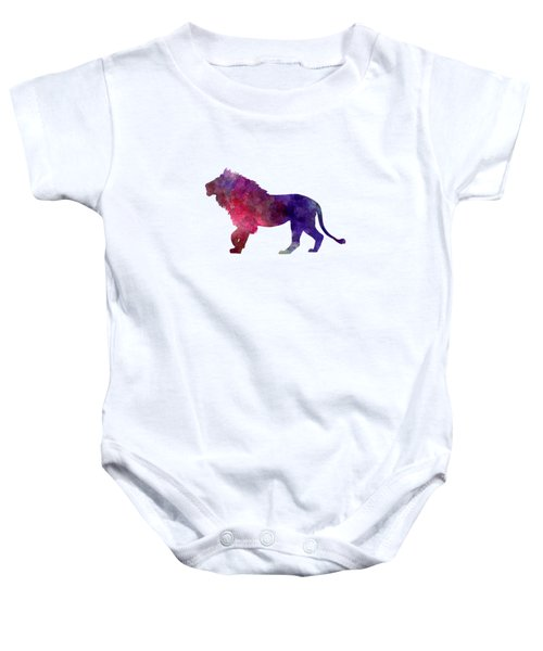 Lion 01 In Watercolor Baby Onesie by Pablo Romero