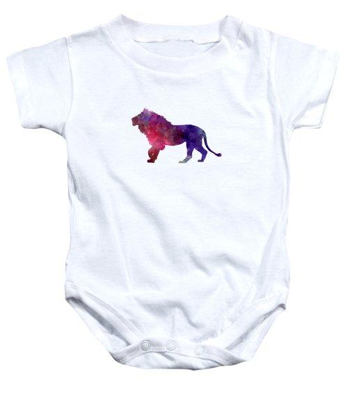 Lion 01 In Watercolor Baby Onesie