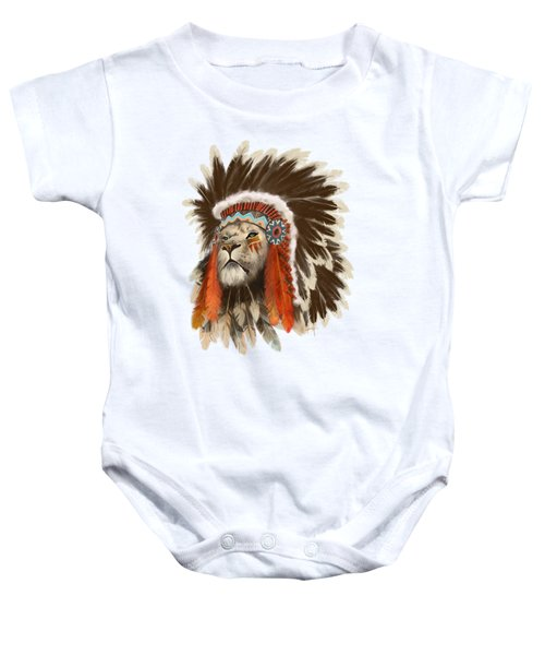 Lion Chief Baby Onesie
