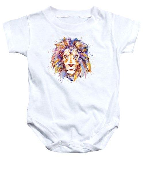 Lion Head Baby Onesie by Marian Voicu
