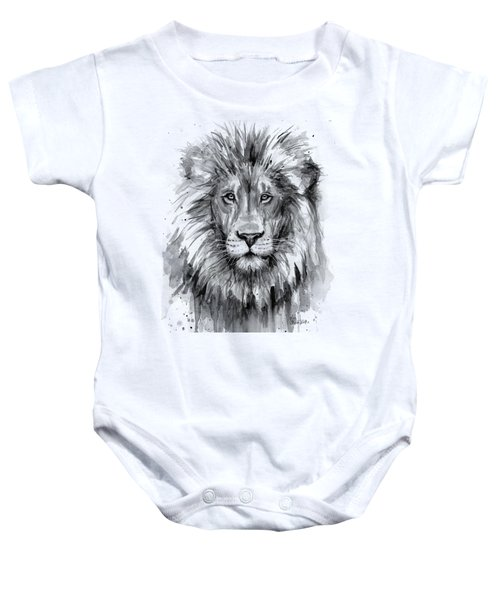 Lion Watercolor  Baby Onesie