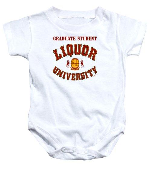 Liquor University Graduate Student Baby Onesie
