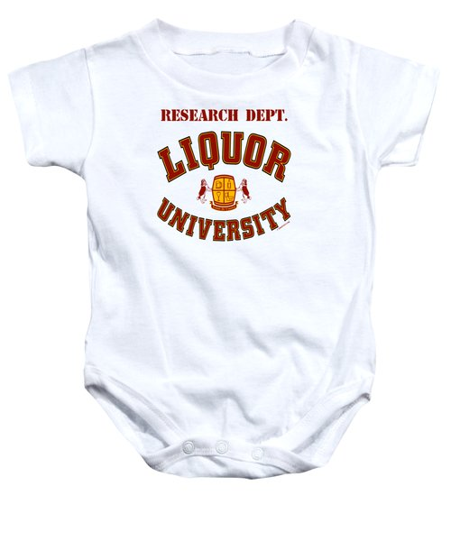 Liquor University Research Dept. Baby Onesie
