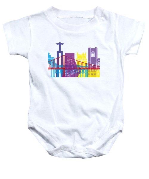 Lisbon Skyline Pop Baby Onesie
