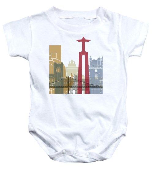 Lisbon Skyline Poster Baby Onesie