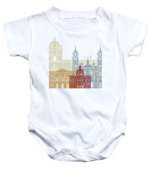 Lisbon Skyline Poster_v2 Baby Onesie