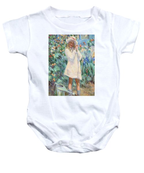 Little Girl With Roses / Detail Baby Onesie