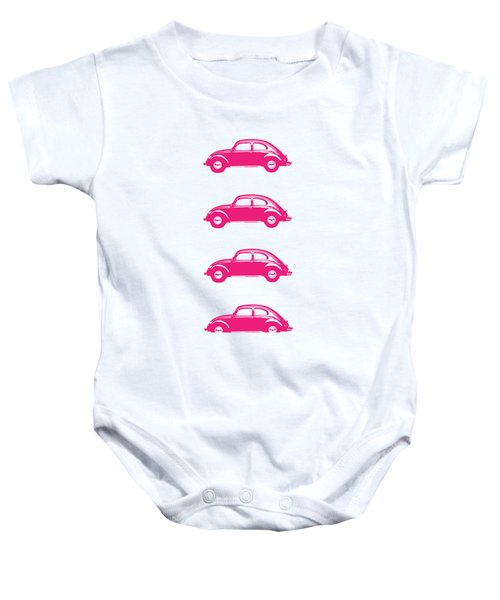 Little Pink Beetles Baby Onesie by Edward Fielding