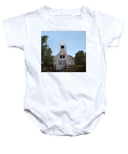 Little White Church Baby Onesie