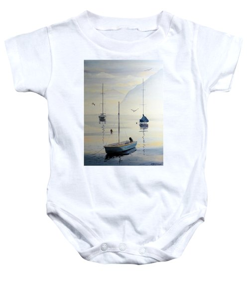 Locarno Boats In February Baby Onesie