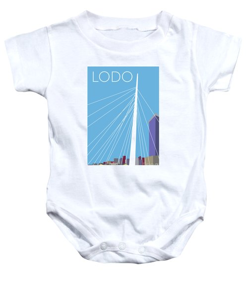 Lodo/blue Baby Onesie