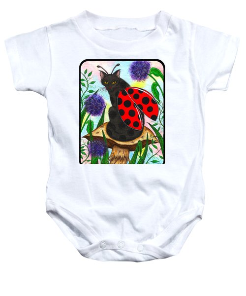 Logan Ladybug Fairy Cat Baby Onesie by Carrie Hawks