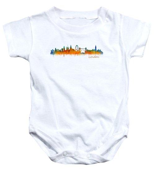London City Skyline Hq V2 Baby Onesie