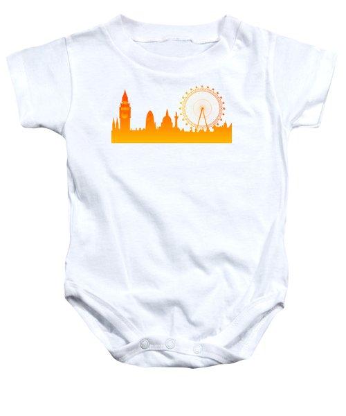 London City Skyline Baby Onesie