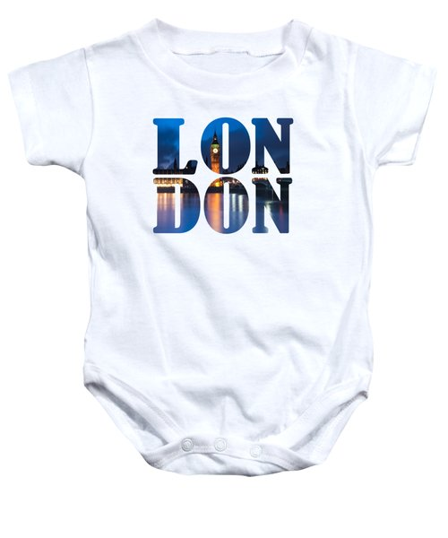 London Letters Baby Onesie by Matt Malloy