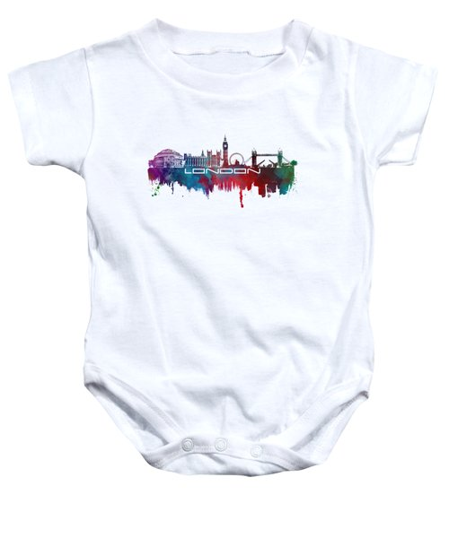 London Skyline City Blue Baby Onesie by Justyna JBJart