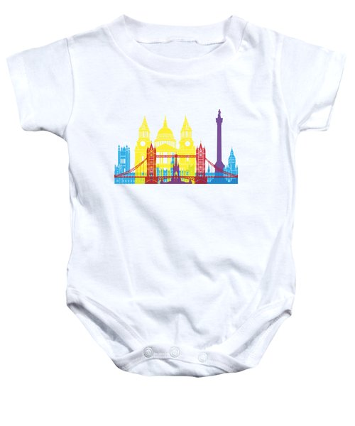 London Skyline Pop Baby Onesie