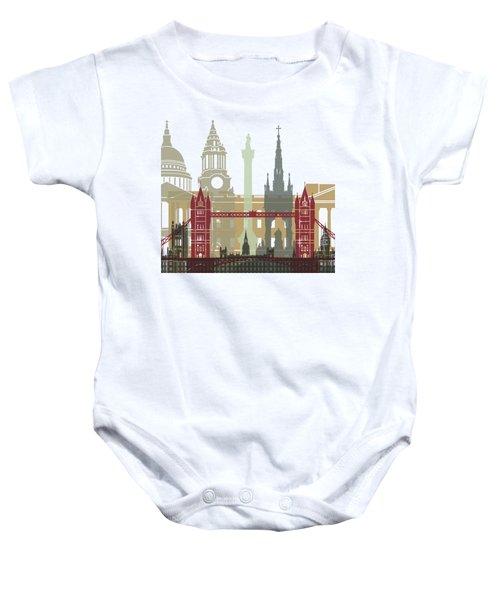 London Skyline Poster Baby Onesie