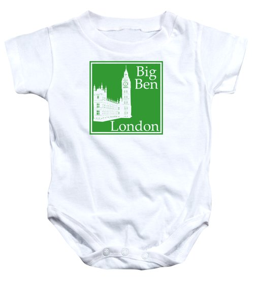 London's Big Ben In Dublin Green Baby Onesie by Custom Home Fashions