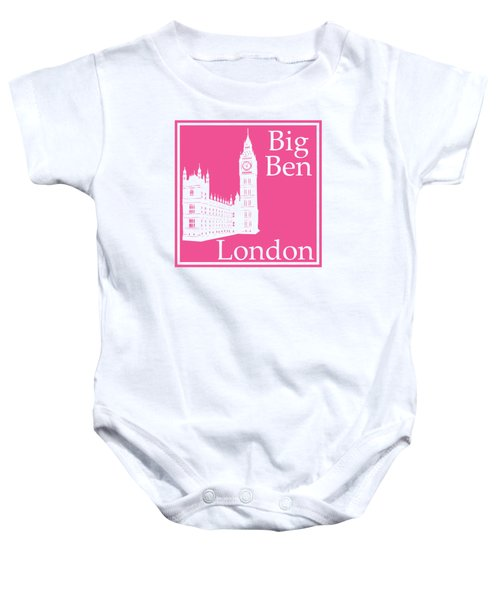 London's Big Ben In French Pink Baby Onesie by Custom Home Fashions