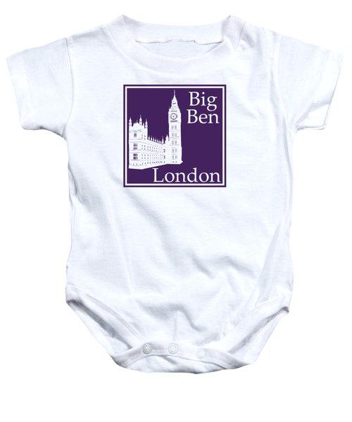 London's Big Ben In Purple Baby Onesie