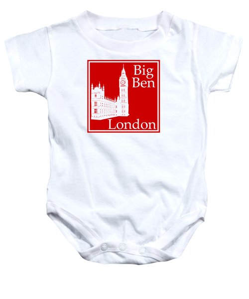 London's Big Ben In Red Baby Onesie by Custom Home Fashions
