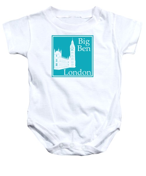 London's Big Ben In Robin's Egg Blue Baby Onesie by Custom Home Fashions