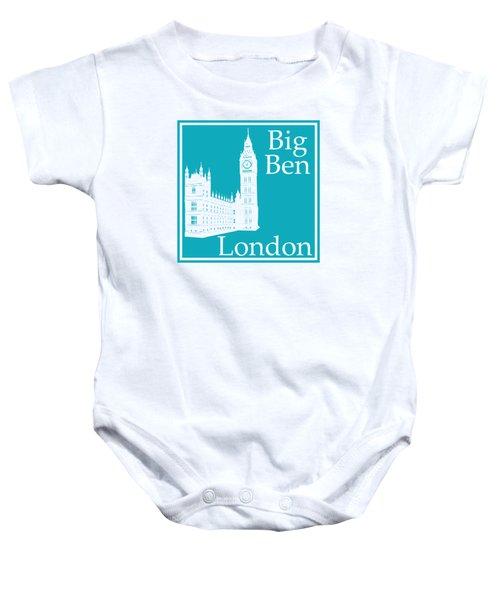 London's Big Ben In Robin's Egg Blue Baby Onesie